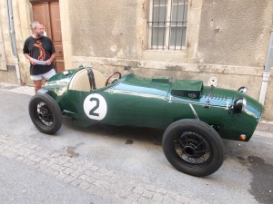 This beautiful old car suddenly appeared parked in Limoux!